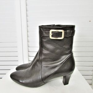 Cole Haan NIKE AIR pearly brown ankle boots 7.5 B